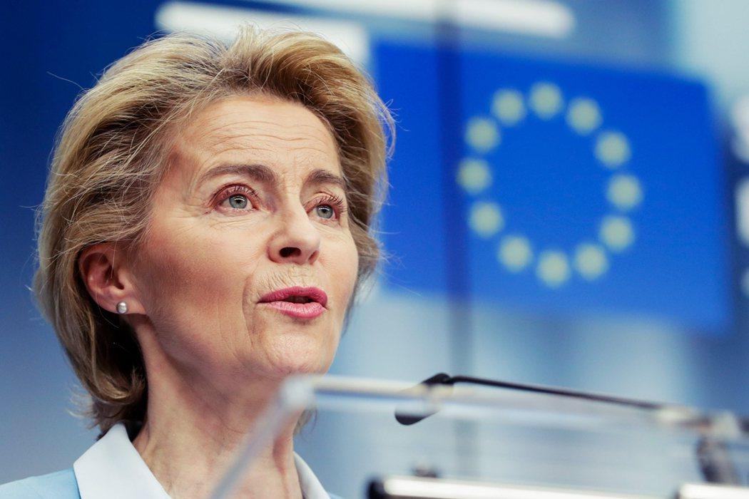 圖為歐盟執委會主席馮德萊恩(Ursula von der Leyen)。強生對歐...