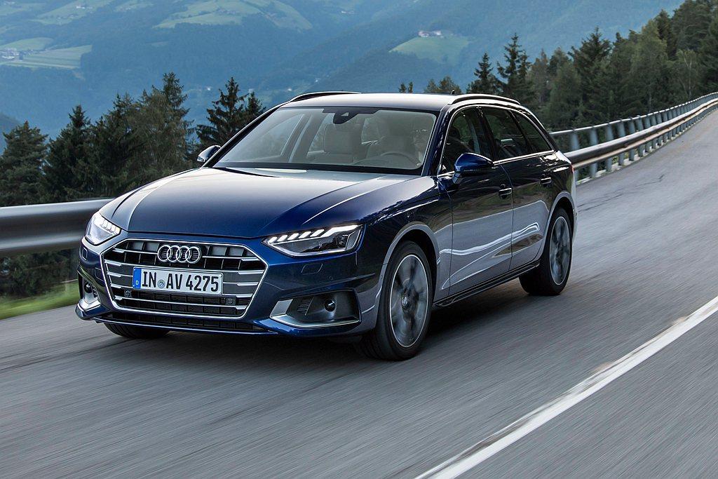 小改款Audi A4/A4 Avant外觀導入全新設計極線LED識別燈、LED極...