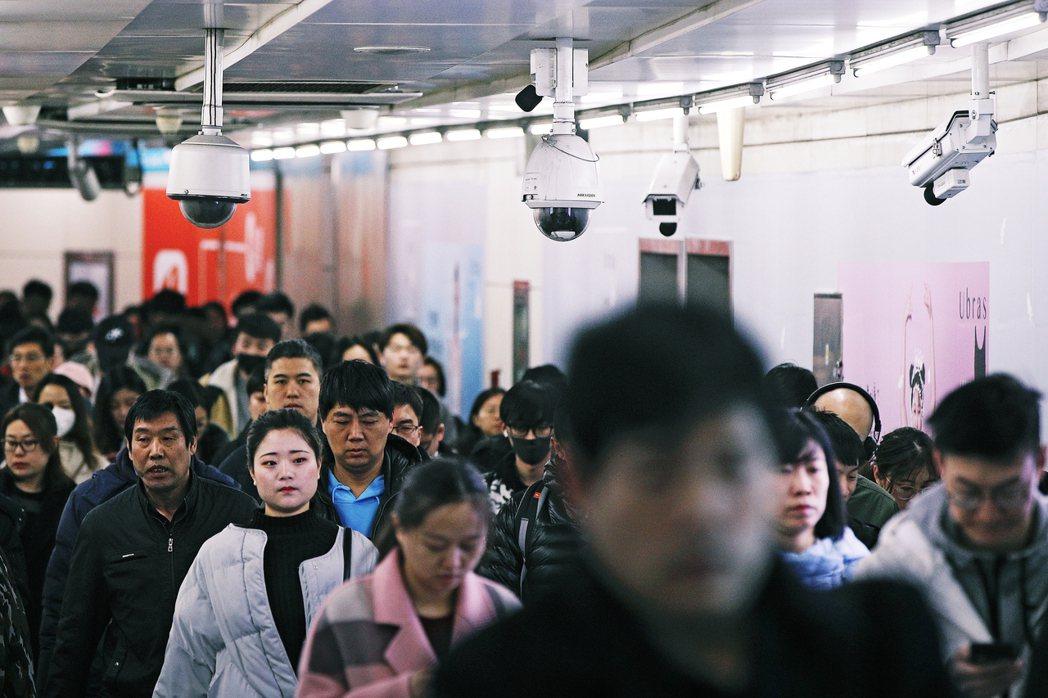 中國北京地鐵站。 圖/美聯社