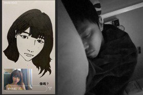 黃鴻升女友峮峮曝手繪肖像圖 心碎「愛的畫作變遺作」