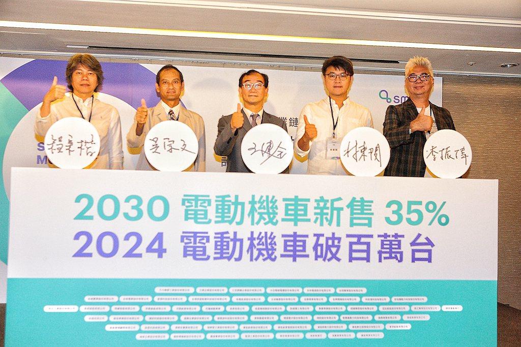 台灣目前機車是1400萬輛,電動機車約40萬輛,如果積極往「2030年電動機車新...