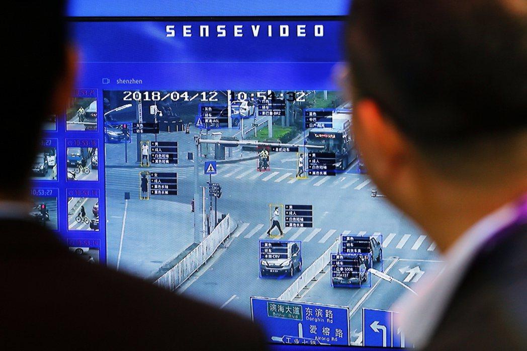 中國人臉辨識系統。 圖/路透社