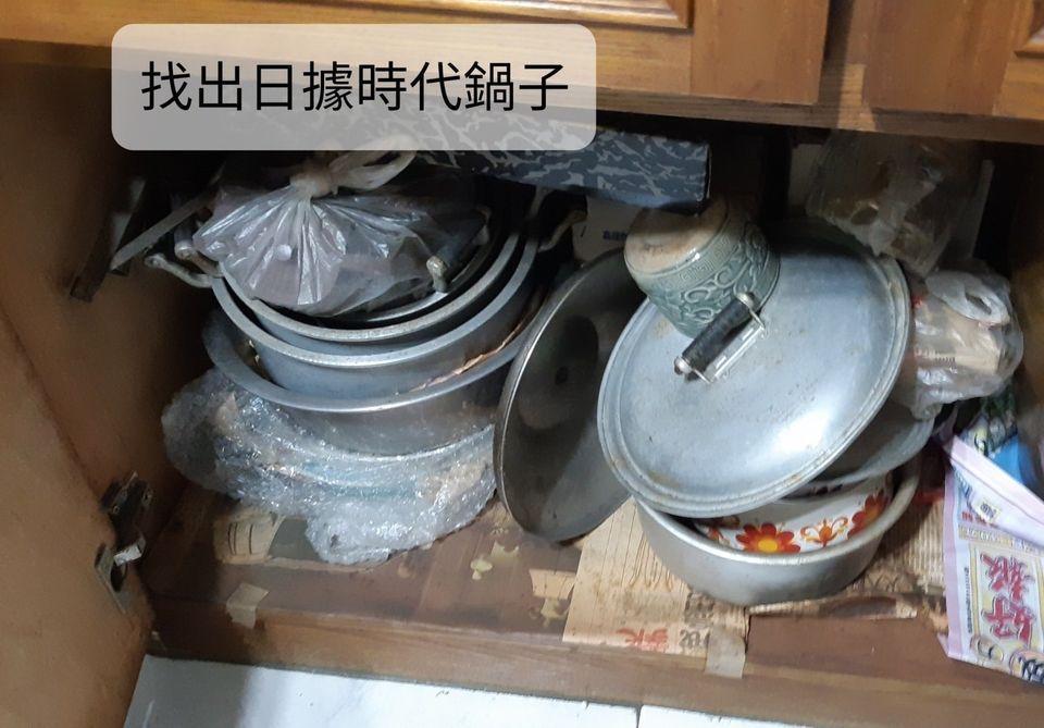 櫃子裡多年沒有使用的鍋子。 圖/廖心筠提供