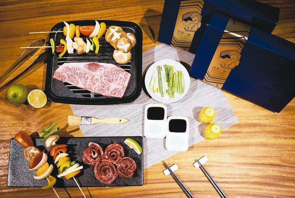滋賀一世因應中秋推出「近江牛A5燒烤肉片與A5紐約客牛排」雙饗禮盒,售價2,00...