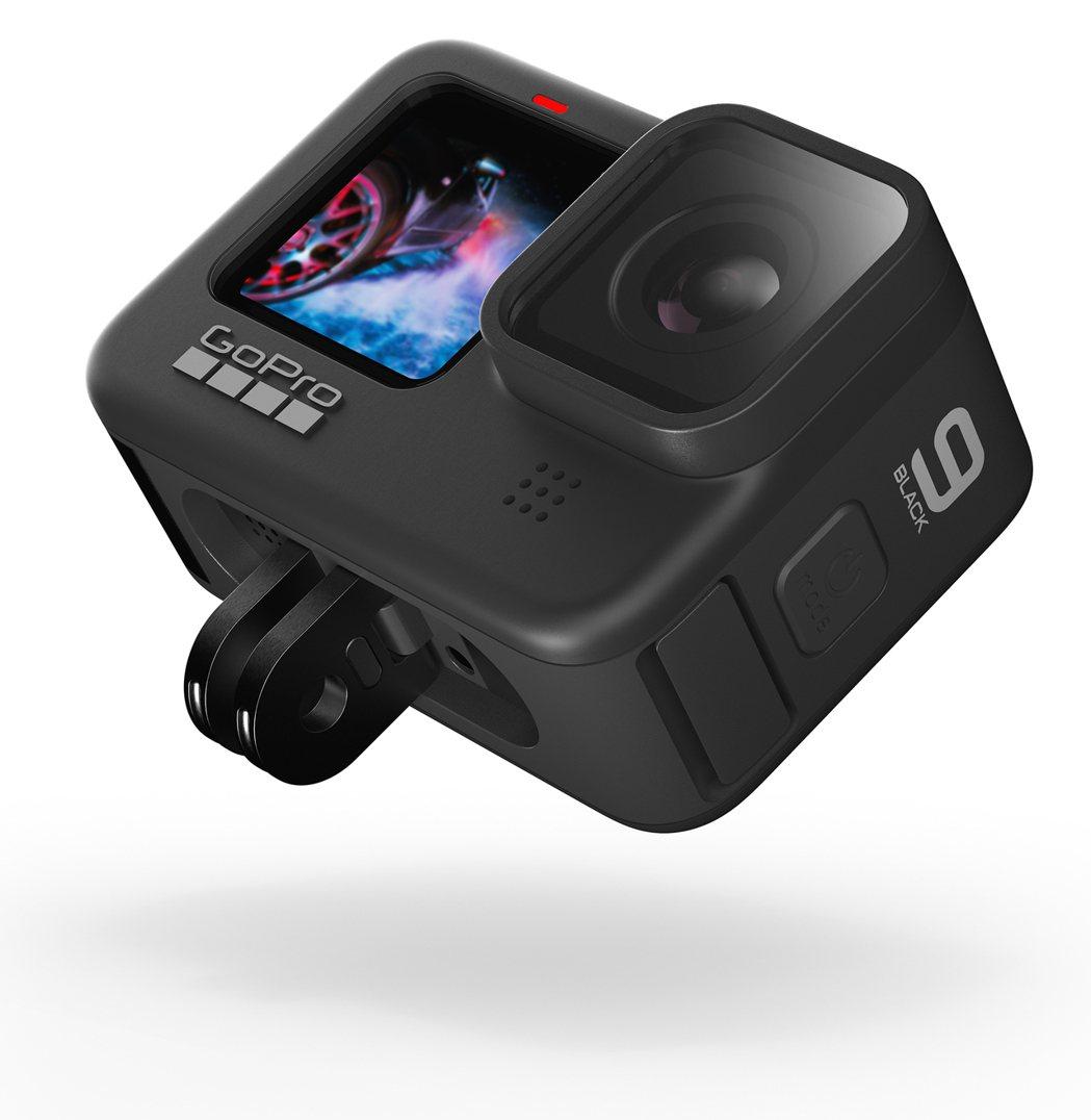 HERO9 Black提供可伸縮固定環,有利各種配件使用。 忠欣/提供