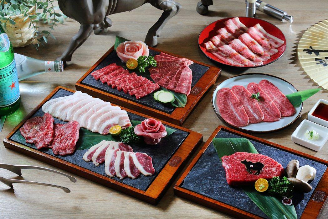 「癮燒精肉酒鋪」限定套餐「秋豐相逢宴」(圖示為4人份)。 業者/提供。
