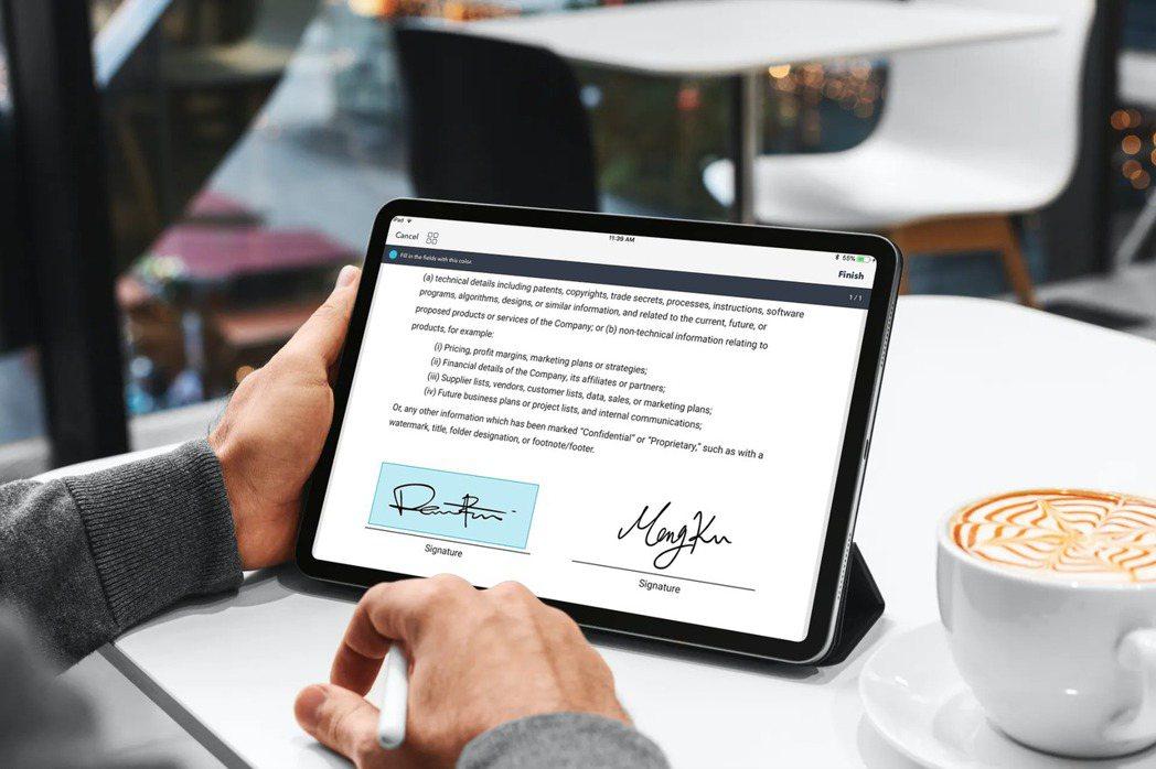 凱鈿行動科技點點簽(DottedSign)電子簽名服務。凱鈿行動科技/提供