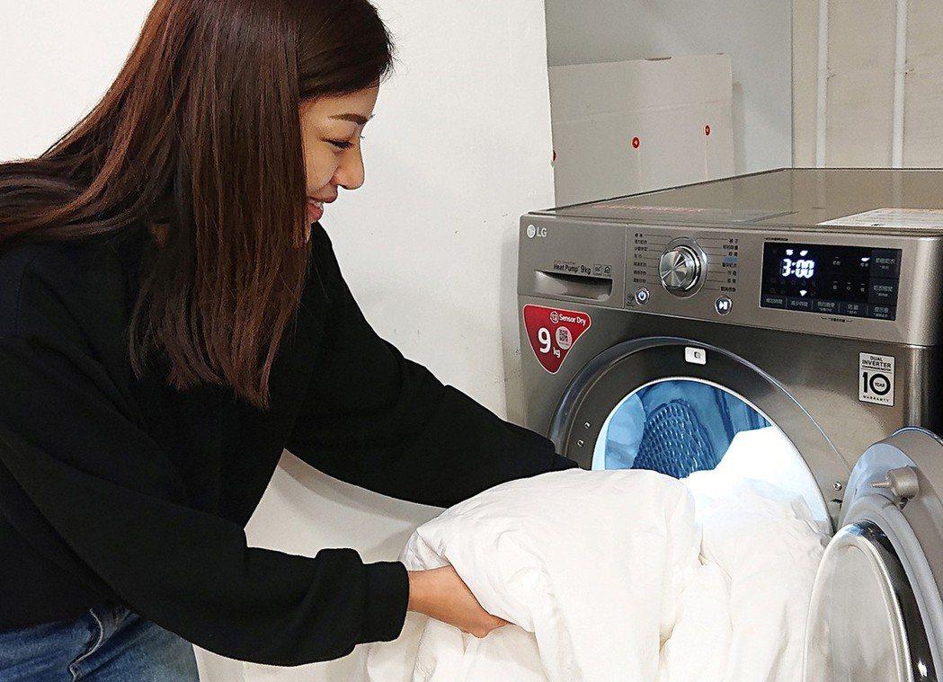 LG熱泵式變頻乾衣機內建多種功能行程,可減少居家過敏原,全新福利品下殺8折。