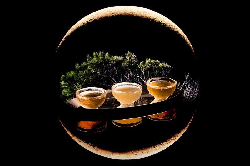英迪格酒店中秋特調「對飲成三人」有創意也有意境。 業者/提供