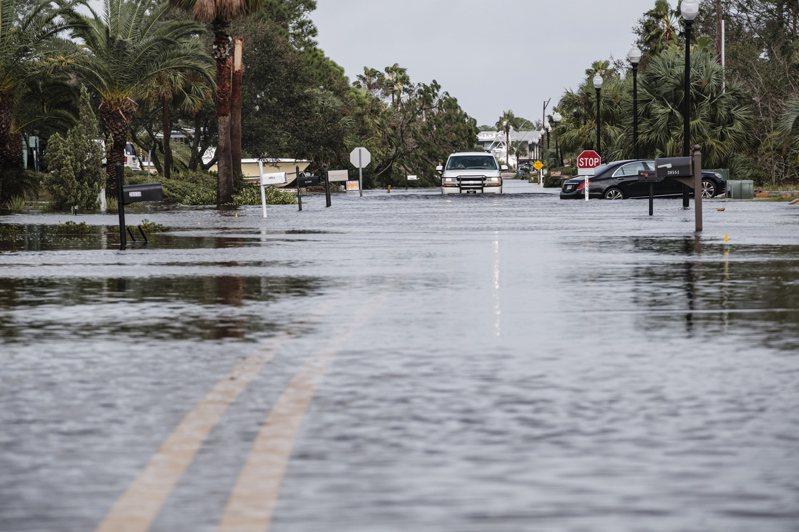 颶風莎莉(Sally)造成不少地區淹水。 歐新社