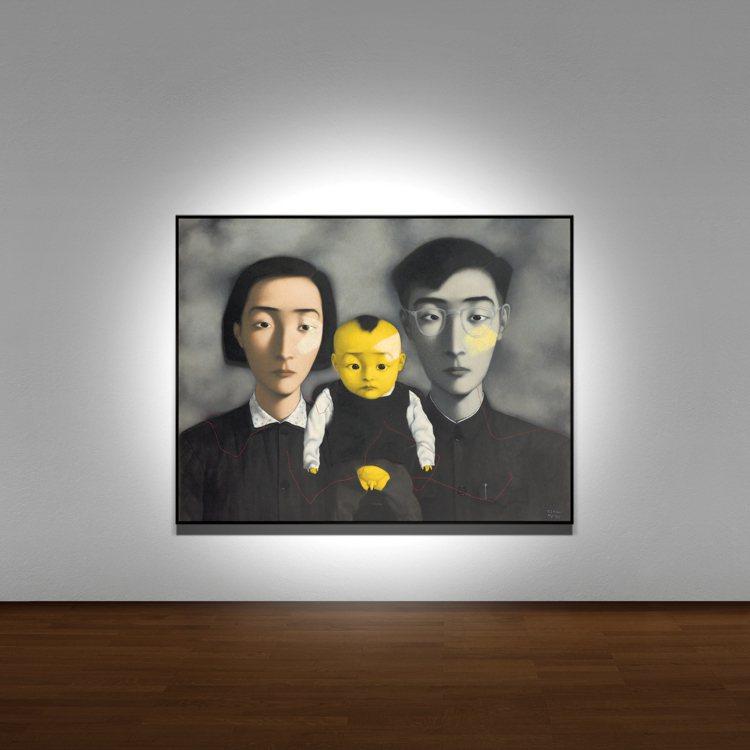 張曉剛「血緣:大家庭2號」是藝術家1994年至1996年間5件大尺幅作品之一。圖...
