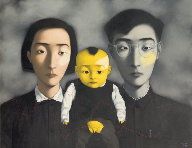 張曉剛「血緣:大家庭2號」將登12月佳士得香港現當代藝術晚拍,估價3800萬港元...