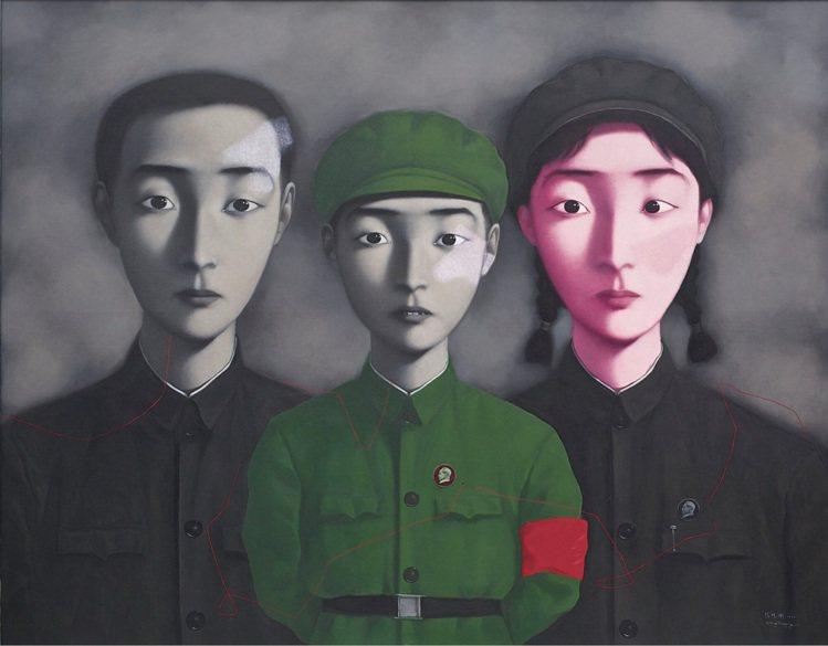 「血緣:大家庭3號」在2014年曾拍出9420萬港元的高價,創下藝術家最高價作品...