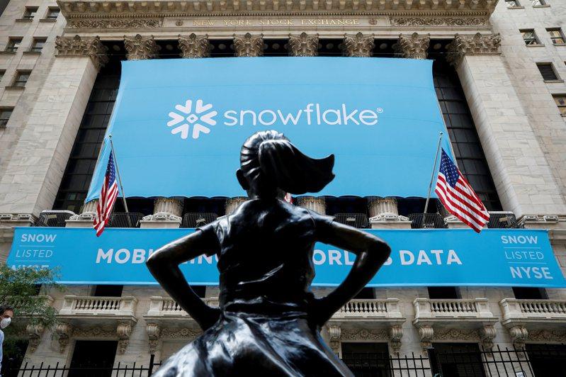 雲端公司「雪花」(Snowflake)9月16日在紐約交易所上市。路透