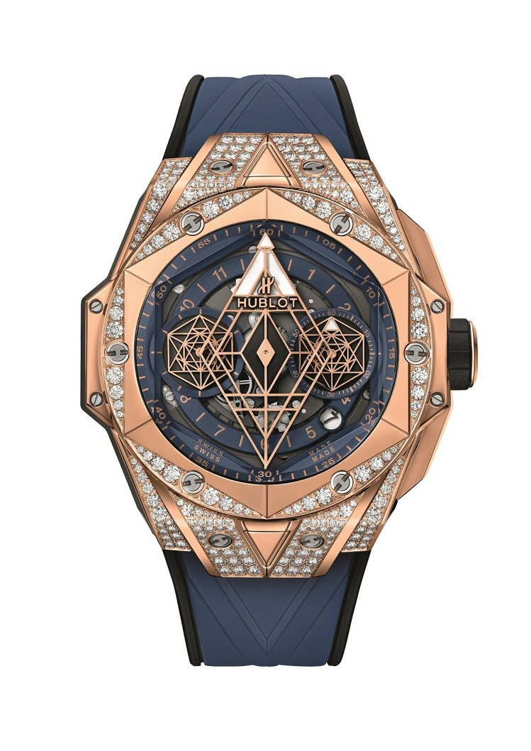 Big Bang Unico Sang Bleu II墨藍計時皇金鑽表,146萬...