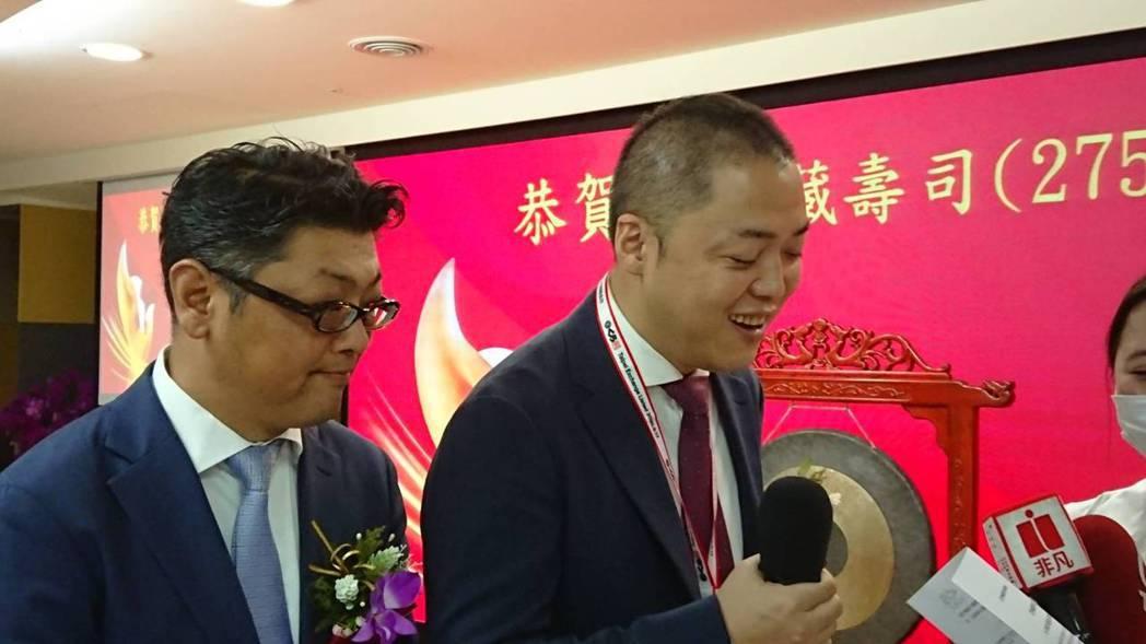 亞洲藏壽司董事長西川健太郎(右)有信心下半年營運展望會比上半年好。記者黃淑惠/攝...