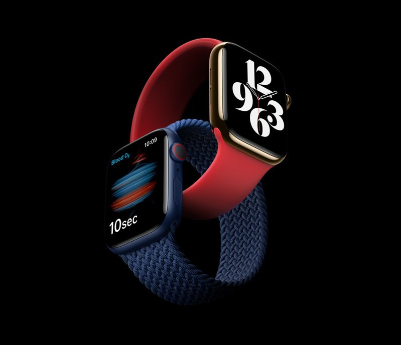 Apple Watch Series 6在蘋果發表會上正式亮相,台灣也被列入首波上市的市場,消費者17日就可上網訂購,23日開賣。圖/翻攝自Apple官網