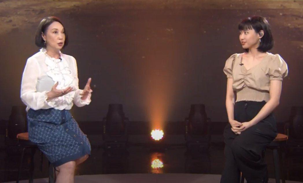 李芷婷(右)上朱衛茵主持的「似曾相識」。圖/東風提供