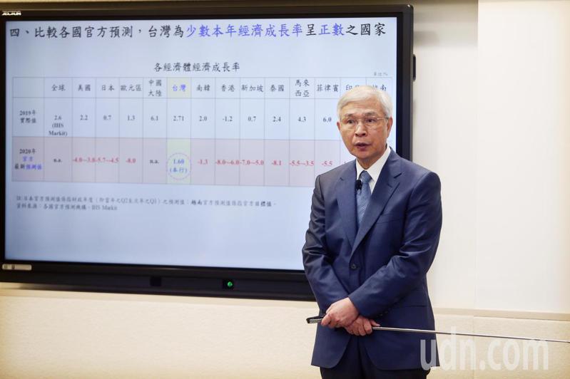 中央銀行總裁楊金龍宣布決議貼放利率連二季按兵不動。 記者蘇健忠/攝影