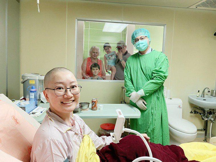 美籍「急性骨髓性白血病」患者來台接受骨髓移植,已順利度過危險期。圖/北榮提供