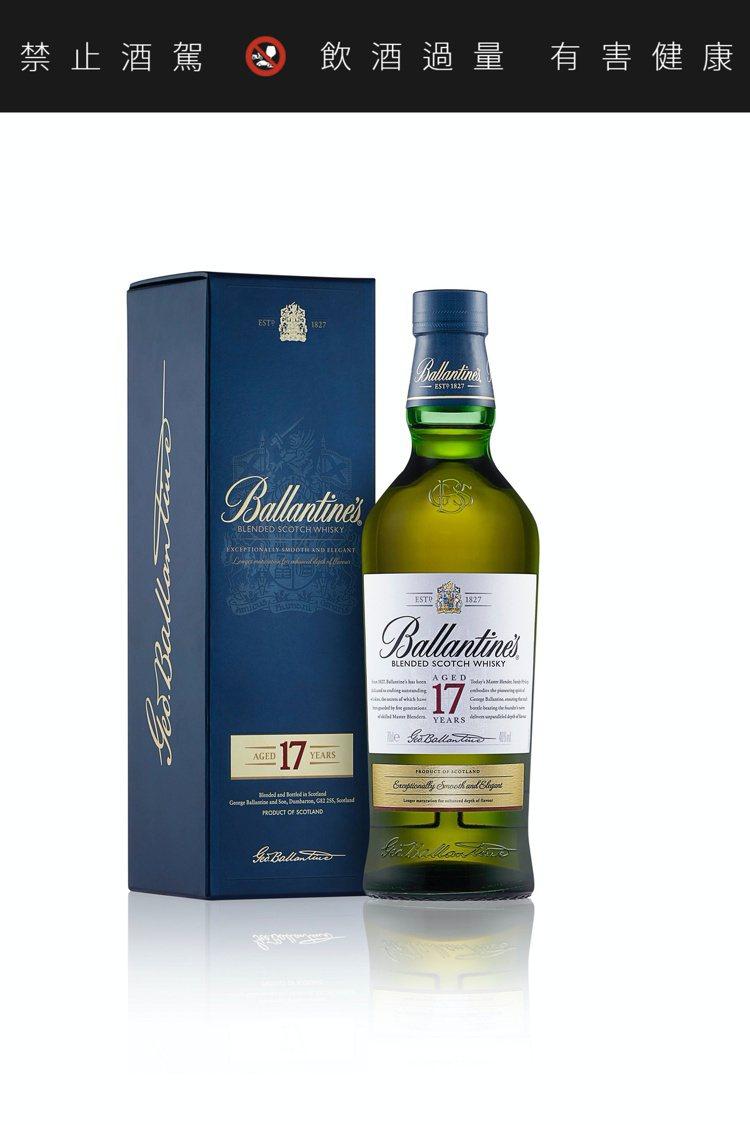 百齡罈17年蘇格蘭威士忌,建議售價1,480元。圖/保樂力加提供。提醒您:禁止酒...