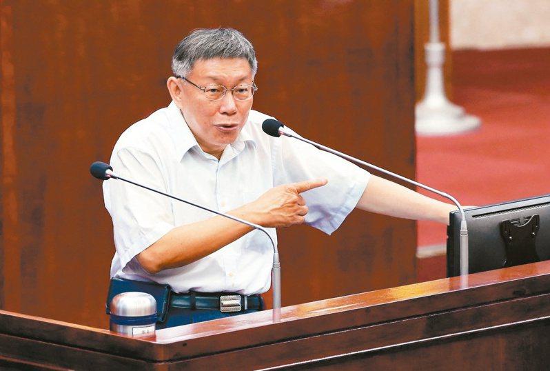 台北市長柯文哲針對選總統議題,表示「在準備」。記者林俊良/攝影