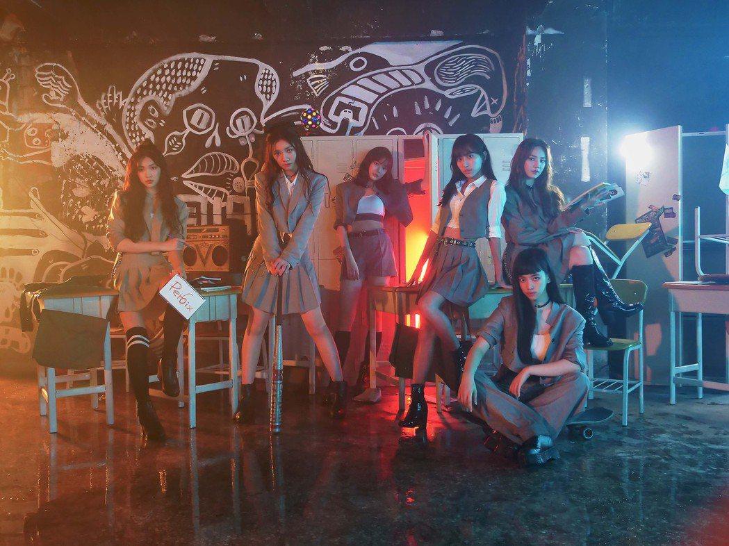 女團「PER6IX」登廢墟拍攝新歌MV。圖/喜歡音樂提供