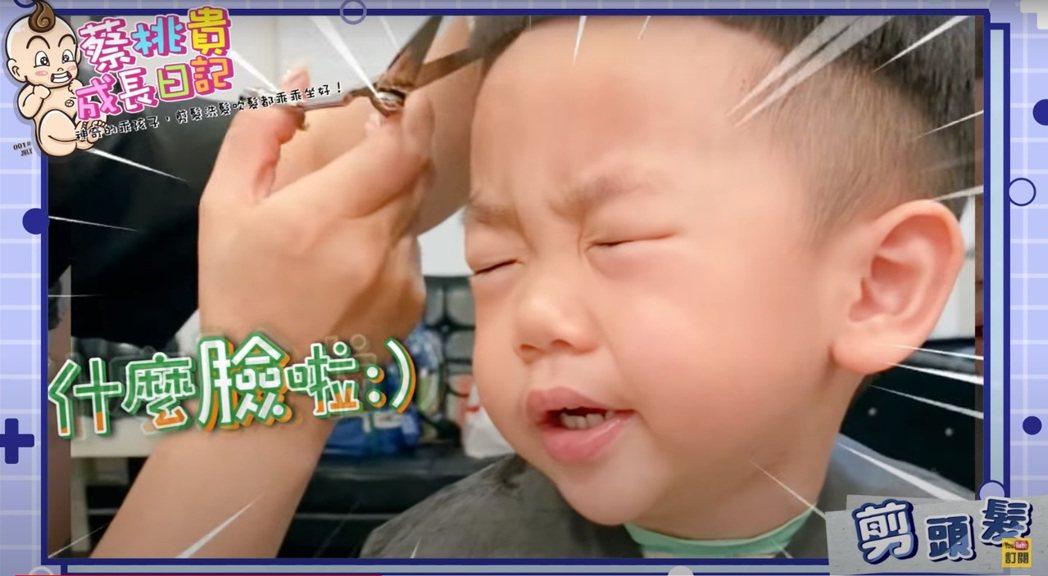 蔡桃貴剪髮洗頭相當乖巧。圖/擷自YouTube