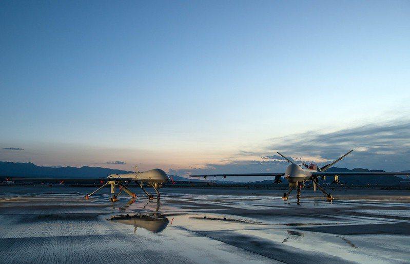 圖為MQ-9無人機。 圖/美國空軍