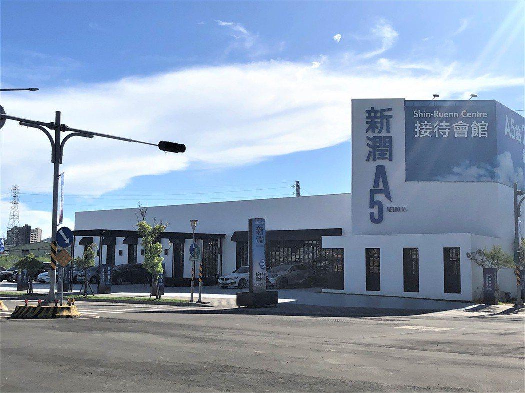 「新潤A5」離機捷泰山站步行3分鐘即可到達。圖/業者提供