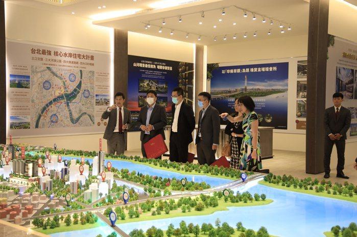 甲山林帝景1號三江交匯絕佳位置受到不少企業主指名賞屋。