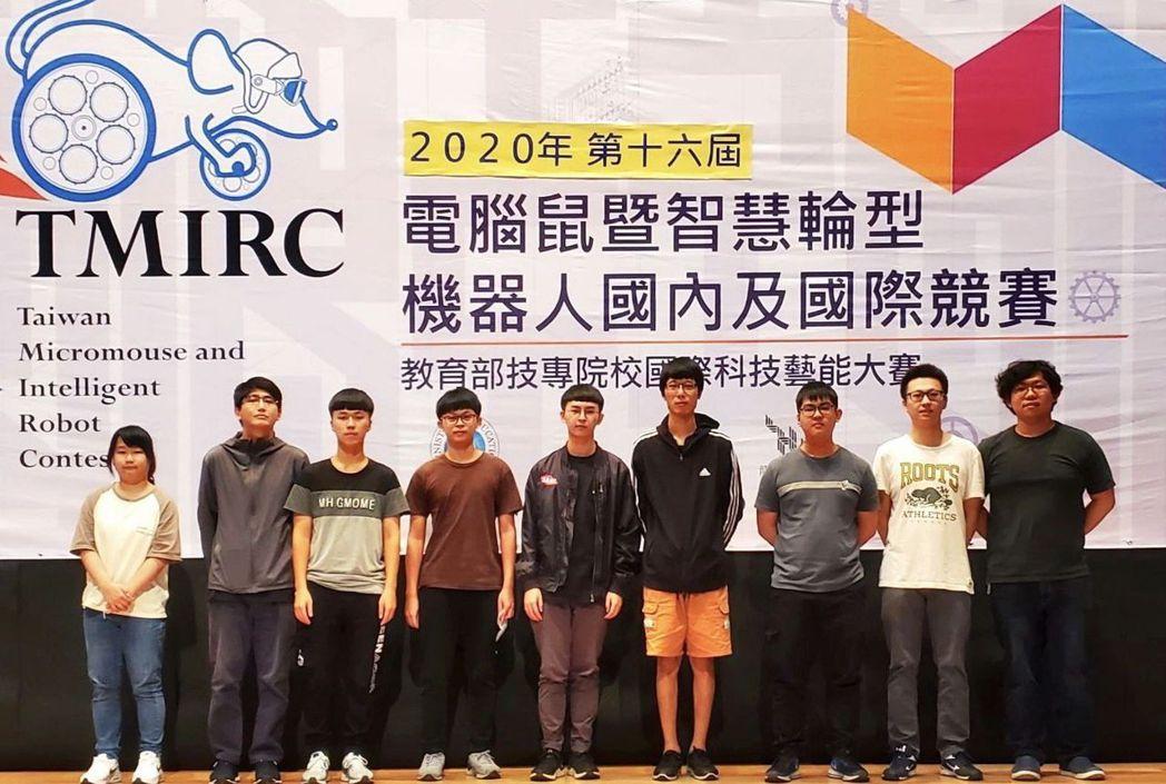南臺科大電子系學生團隊贏得冠亞軍。 南臺科大/提供