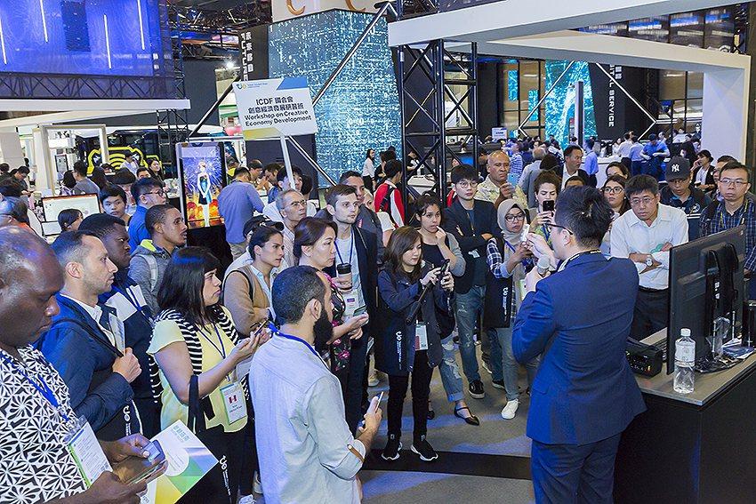 2019台灣創新技術博覽會踴躍的參觀人潮。 工研院/提供