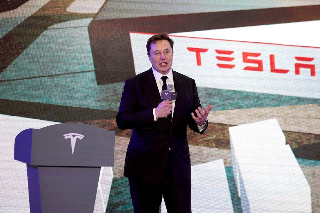 特斯拉電池日本周即將登場,圖為特斯拉執行長馬斯克。路透