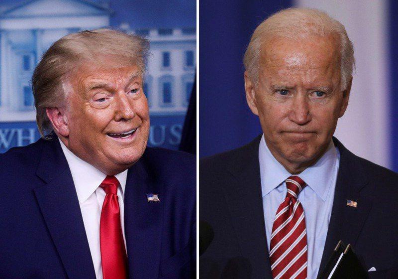 川普(左)和他的支持者希望,藉三場的總統大選辯論,彰顯78歲的拜登(右)言語不清、老年失智、反應遲緩,已不堪勝任總統職務,從而翻盤扭轉大局。圖/路透社、聯合新聞網合成照