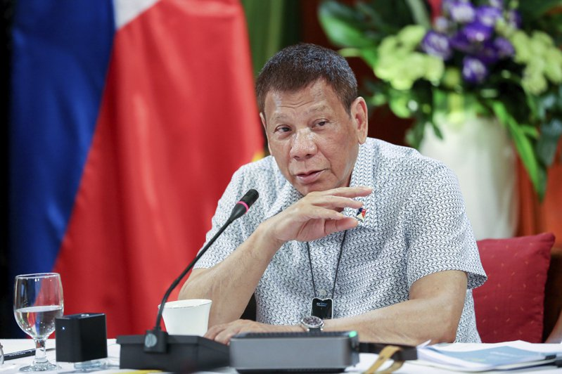 菲律賓總統杜特蒂。 美聯社