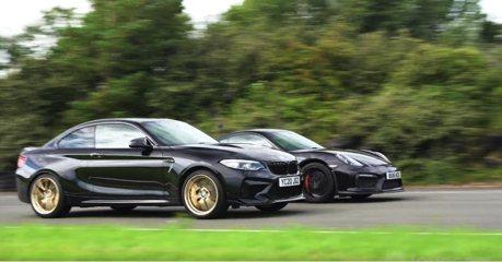 影/BMW M2 CS與Porsche Cayman GT4 終於在賽道見面了!