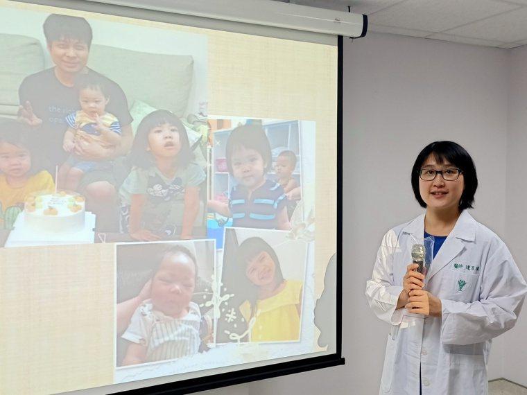 佳里奇美醫院兒科主治醫師陳昱瑾分享養育三寶的媽媽經。圖/佳里奇美醫院提供