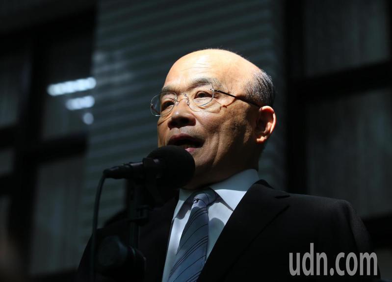 行政院長蘇貞昌上午受訪時表示,只要政府還在,勞保就不會倒。記者林澔一/攝影