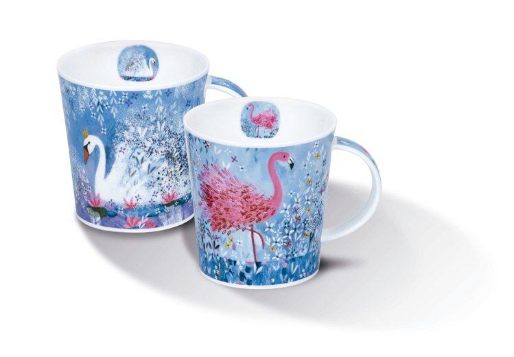 肌膚之鑰消費滿2.2萬滿額禮Dunoon 英國製天鵝湖骨瓷對杯。圖/肌膚之鑰提供