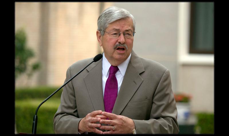 即將離任的美國駐北京大使布蘭斯塔德(Terry Branstad)。美聯社