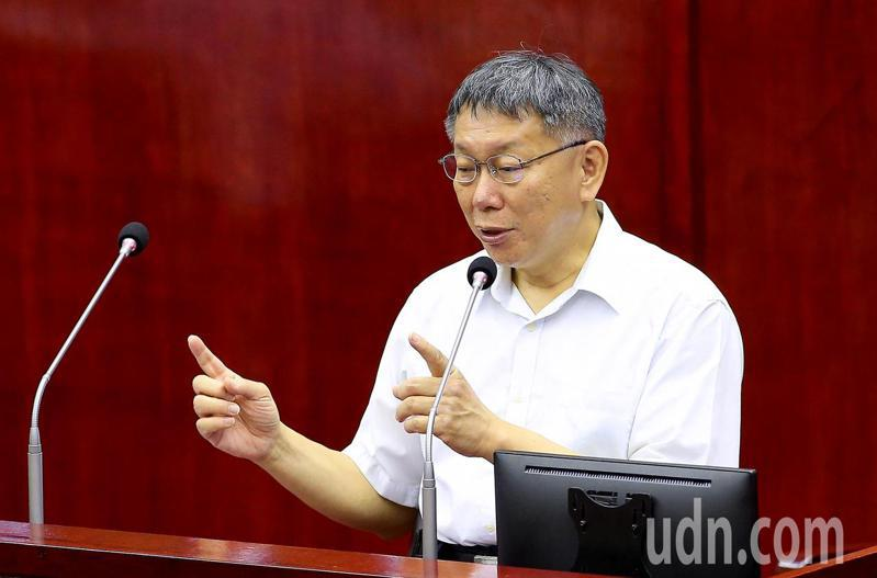 台北市長柯文哲。聯合報記者余承翰/攝影
