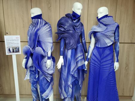 毛衣公會舉辦的毛衣設計開發競賽,由輔大郭笑含作品奪冠。圖/毛衣公會提供