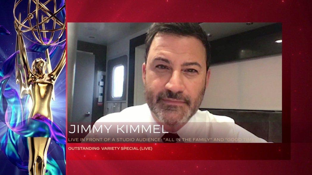 艾美獎今年改成連線頒獎,主持人吉米金莫已先因綜藝節目的表現獲獎。圖/美聯社資料照