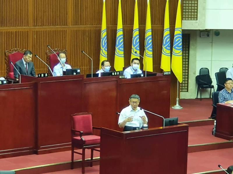 市長柯文哲下午赴議會進行施政報告與備詢。記者楊正海/攝影