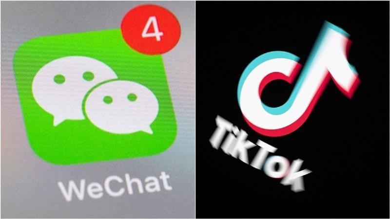 美國20日起禁下載WeChat及TikTok。圖/香港經濟日報