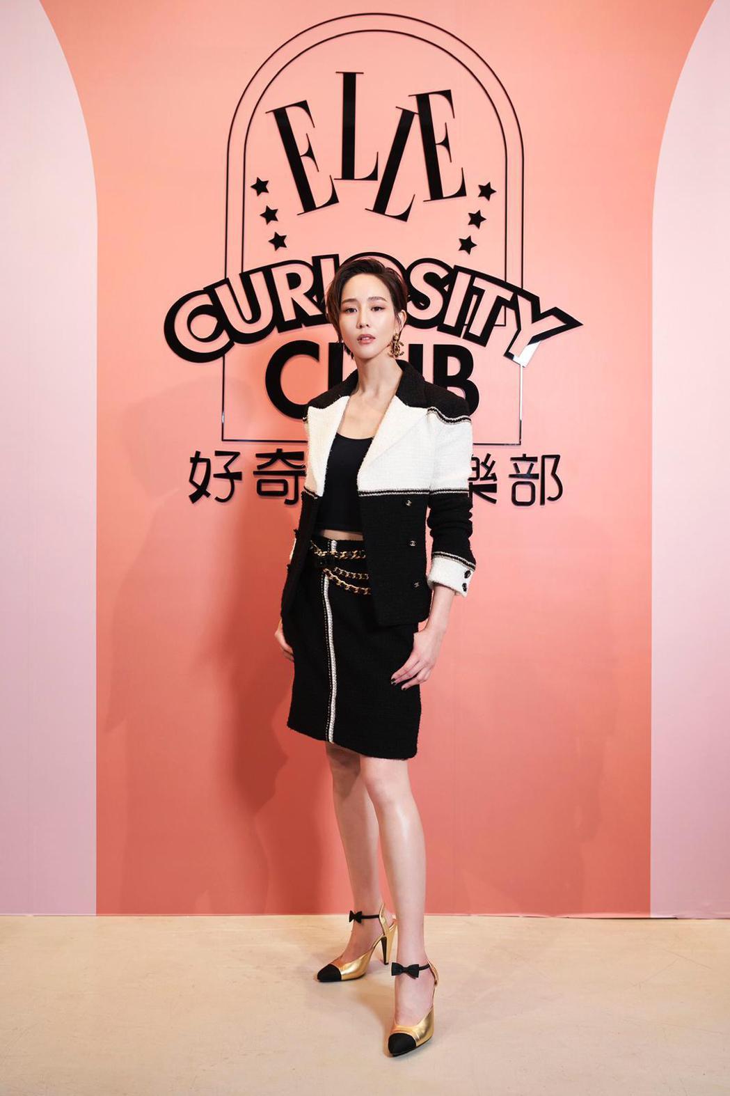 張鈞甯出席「ELLE好奇心俱樂部」展覽。圖/ELLE提供