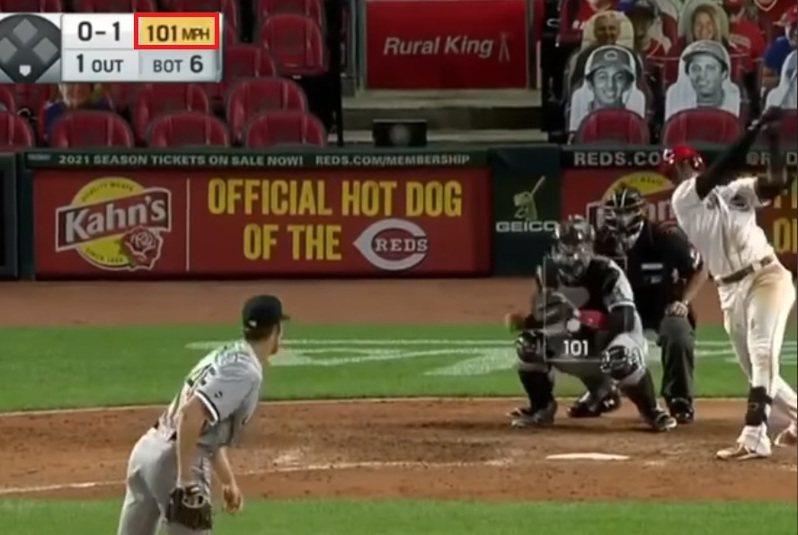 白襪今年首輪第11順位選進的大物新秀克羅切(Garrett Crochet),6月選秀才剛被挑中,今天就完成大聯盟初登板,還飆出101mph火球! 截圖自影片
