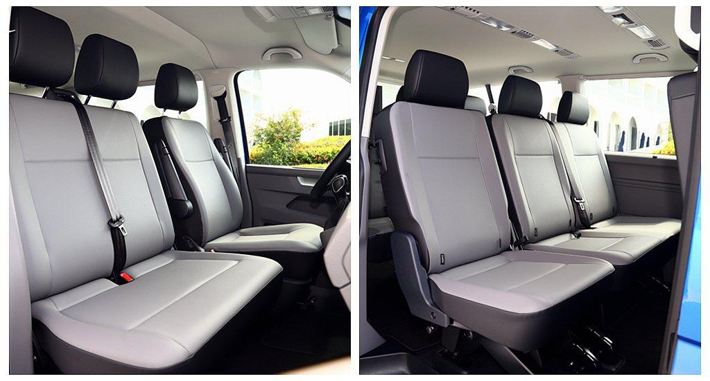 試駕車型為前三人座位(包括駕駛)、後座第一排三人座位、後座第二排三人座位的9人座...