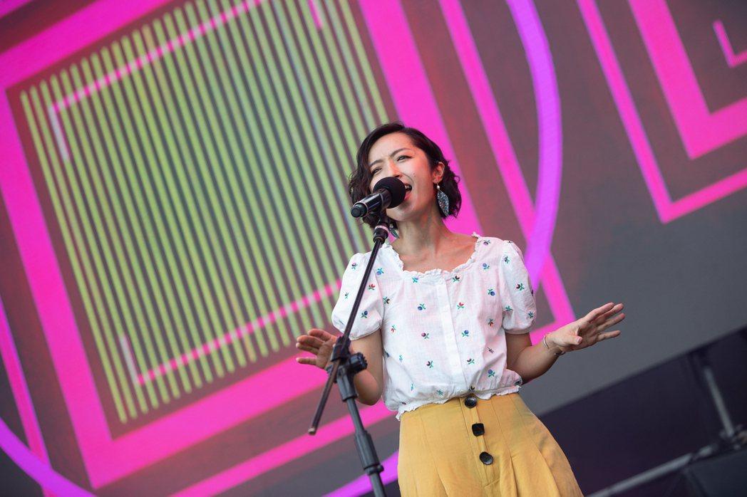 疫情關係前陣子公開演出減少的旺福,綠生活音樂節首日熱鬧開唱。 圖/新北市文化局提...